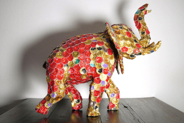 Elefant aus alten Kaffeekapseln (upcycling)
