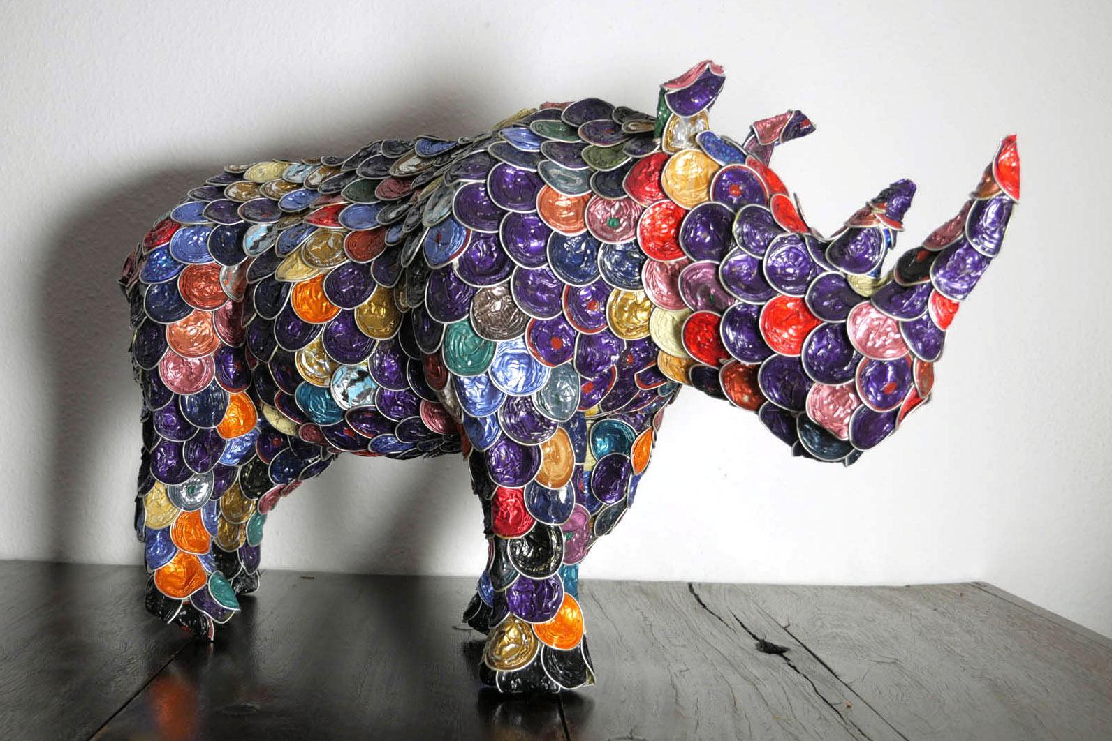 Rhino/Nashorn aus alten Kaffeekapseln (upcycling)