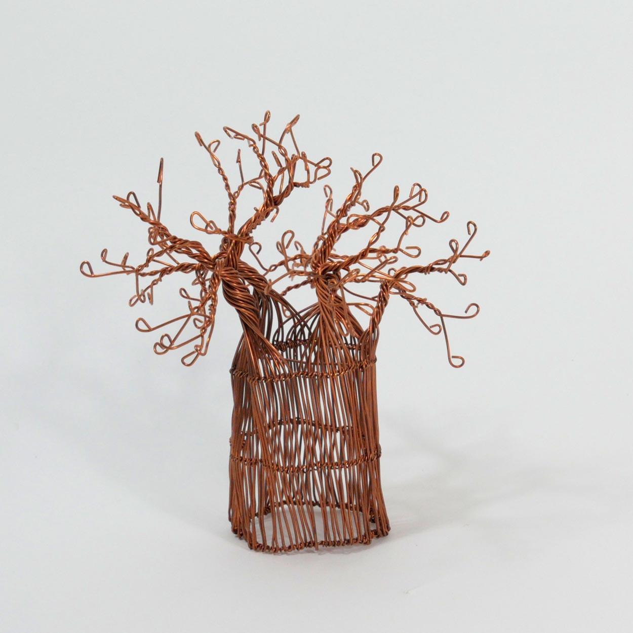 Afrikanischer Baobab Baum aus Kupferdraht