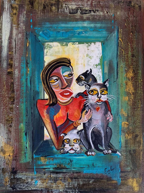 Die Katzen Dame
